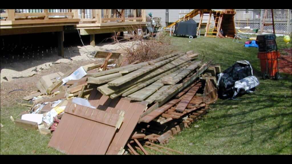 Deck Removal Dumpster Services-Greeley's Main Dumpster Rental Services